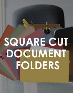 Square Cut Document Folders