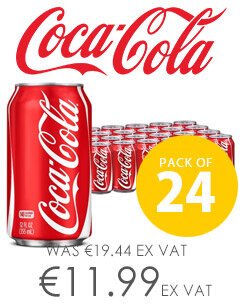 Coca-Cola Original Classic Coke Soft Drinks 330ml Can Pack of 24