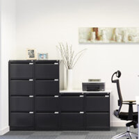 Black Colour Steel Filing Cabinets