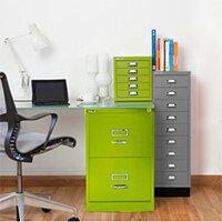 Green Colour Steel Filing Cabinets