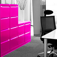 Pink Colour Steel Filing Cabinets