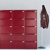 Red Colour Steel Filing Cabinets