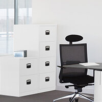 White Colour Steel Filing Cabinets