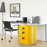 Yellow Colour Steel Filing Cabinets