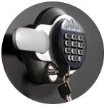 Electronic & Key Lock