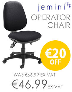 High Back Operator Chair With Height & Seat Angle Adjustment Charcoal