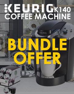 Keurig K140 Coffee Machine & FREE Starbucks Coffee Pods + Display Carousel + Biscuit Bars