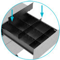 3 Drawer Kito X Series Steel Filing pedestal drawer dividers