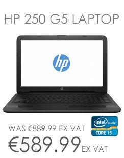 HP 250 G5 Laptop Intel Core i5 6200U 8GB RAM 256GB SSD DVD Multi