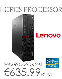Lenovo ThinkCentre M70010GTSFF Core i3 - RAM 4GB - HDD 500GB - Win 10 Pro 64-bit / Win 7 Pro 64-bit