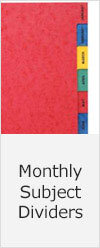 Monthly Subject Dividers