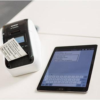 brother label printer templates - brother ql 820nwb label printer wi fi lan bluetooth