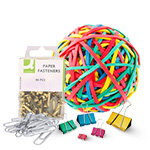 Q Connect Rubber Bands and Paper Fasteners