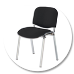 Fabric Upholstered Stacking Chairs
