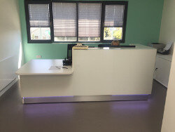 Terenure Medical Office Fitout in Dublin by HuntOffice Interiors - Reception Desk