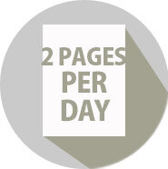 2 pages per day diary 2021