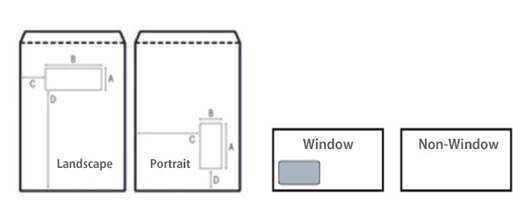 envelops window position