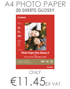 Canon Photo Paper Plus Glossy II PP-201 Glossy A4 (210 x 297 mm) 275 g/m² 20 Sheet(s) Photo Paper