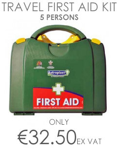 Green Box HSA Travel Person First Aid Kit (Incl Eye Eash & Burns items) Up to 5 Person