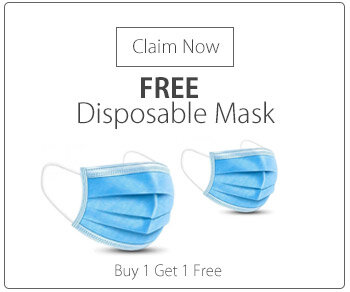 Disposable 3 Ply Protective Mask With Ear Loop Box of 50