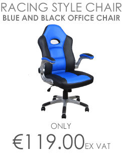 Alphason Racing Style Office Chair Blue and Black
