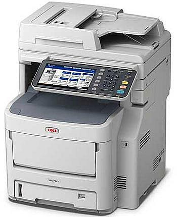 OKI MC760dn Colour Multifunction Laser Printer A4 Duplex Network