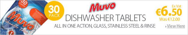 Muvo Original Dishwasher Tablets 1 x Pack of 30 Tablets 124442