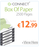 Q-Connect Box of Copier Printing Paper A4 80gsm White Ream KF01087
