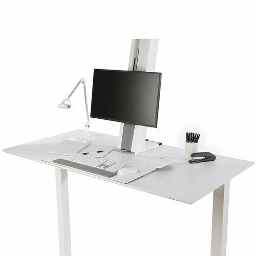 The Quickstand Sit Stand Station Features Sleek Design With A Minimalist Aesthetic Its Compact Size Frees Up Space On Home Office Furniture