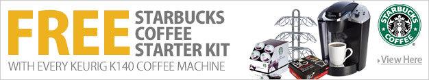 Keurig K140 Coffee Machine & FREE Starbucks Coffee Pods