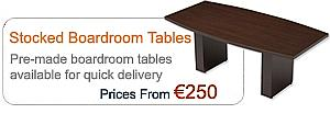 Stocked Boardroom Tables
