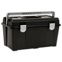 Raaco 19 Inch Toolbox with Removable Tray Black Ref T33 715164
