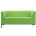 Sigma 2 Seater Sofa - Lime Green Fabric